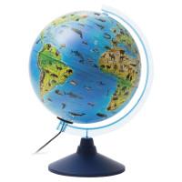 """Globen Ке012500270 Глобус зоогеографический GLOBEN """"Классик Евро"""", диаметр 250 мм, с подсветкой, детский, Ке012500270"""