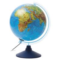 """Globen Ке022500195 Глобус физический/политический GLOBEN """"Классик Евро"""", диаметр 250 мм, рельефный, с подсветкой, Ке022500195"""