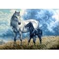 Gobelin L, Diamant 10.553 Лошадь с жеребенком