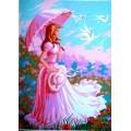 Gobelin L, Diamant C.934 Дама в розовом