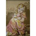 Gobelin L, Diamant D.479 Малышка в розовом и котята