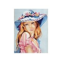 Gobelin L, Diamant D.488 Девушка в голубой шляпке