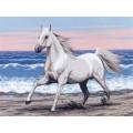 Gobelin L, Diamant E.302 Белая лошадь на морском берегу