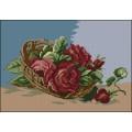 Goblenset 043 Корзина с красными розами (Basket with red roses)
