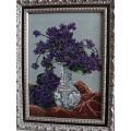 Goblenset 211 Ваза с фиалками (Vase with violets)