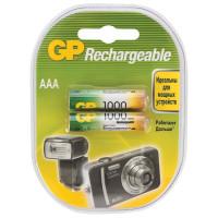 GP 100AAAHC2DECRC2 Батарейки аккумуляторные GP, AAA, Ni-Mh, 1000 mAh, комплект 2 шт., в блистере, 100AAAHC2DECRC2
