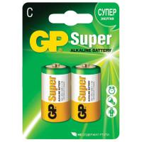 GP 14A-2CR2 Батарейки GP Super, С (LR14, 14А), алкалиновые, комплект 2 шт., в блистере, 14A-2CR2