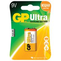 GP 1604AU-5CR1 Батарейка GP Ultra, Крона (6LR61, 6LF22, 1604A), алкалиновая, 1 шт., в блистере, 1604AU-5CR1