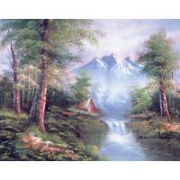 Grafitec 10.334 Канва жесткая с рисунком GRAFITEC 10.334 Горные водопады 30 x 40 см