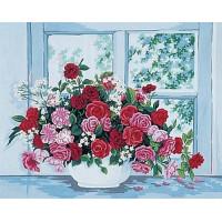 Grafitec 11.399 Канва жесткая с рисунком GRAFITEC 11.399 Розы на окне 50 x 40 см