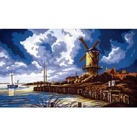Grafitec 11.568 Канва жесткая с рисунком GRAFITEC 11.568 Ветряная мельница,  52 x 30 см