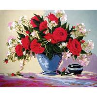 Grafitec 11.583 Канва жесткая с рисунком GRAFITEC 11.583  Красные розы  50 x 40 см
