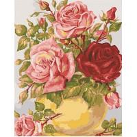 Grafitec 11.853 Канва жесткая с рисунком GRAFITEC 11.853 Розы в желтой вазе 50 x 40 см