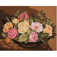 Grafitec 11.877 Канва жесткая с рисунком GRAFITEC 11.877  Чаша с розами 50 x 40 см
