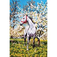 Grafitec 6.172 Канва жесткая с рисунком GRAFITEC 6.172  Лошадь в саду 22 x 30 см