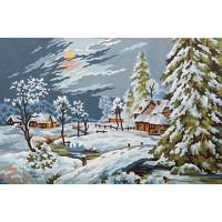 Grafitec 6.294 Канва жесткая с рисунком GRAFITEC 6.294  Снежный пейзаж  22 x 30 см