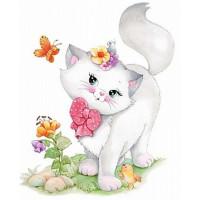 Grafitec 6.304 Канва жесткая с рисунком GRAFITEC 6.304 Милый котенок 22 x 30 см