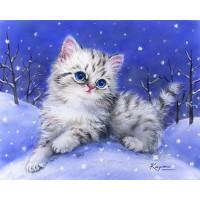 Grafitec 6.314 Канва жесткая с рисунком GRAFITEC 6.314 Котята в снегу 22 x 30 см