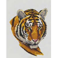 "Grafitec серия 10.000 Канва/ткань с рисунком ""Grafitec"" серия 10.000 50 см х 40 см 10.484 Портрет тигра"