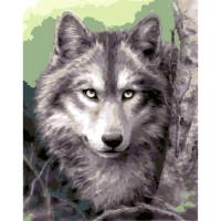 """Grafitec серия 10.000 Канва/ткань с рисунком """"Grafitec"""" серия 10.000 50 см х 40 см 10.503 Серый волк"""