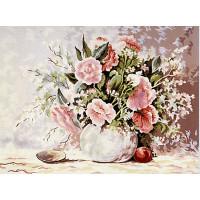 """Grafitec серия 11.000 Канва/ткань с рисунком """"Grafitec"""" серия 11.000 60 см х 50 см 11.382 Нежные розы"""
