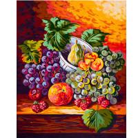 """Grafitec серия 11.000 Канва/ткань с рисунком """"Grafitec"""" серия 11.000 60 см х 50 см 11.472 Виноград на столе"""