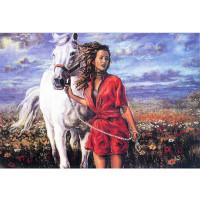 """Grafitec серия 11.000 Канва/ткань с рисунком """"Grafitec"""" серия 11.000 60 см х 50 см 11.486 Прогулка в поле"""