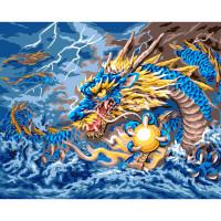 """Grafitec серия 11.000 Канва/ткань с рисунком """"Grafitec"""" серия 11.000 60 см х 50 см 11.883 Сказочный дракон"""