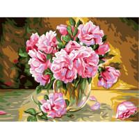 """Grafitec серия 11.000 Канва/ткань с рисунком """"Grafitec"""" серия 11.000 60 см х 50 см 11.888 Розовые розы"""