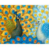 """Grafitec серия 12.000 Канва/ткань с рисунком """"Grafitec"""" серия 12.000 80 см х 60 см 12.302 Экзотические павлины"""