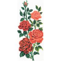 """Grafitec серия 8.000 Канва/ткань с рисунком """"Grafitec"""" серия 8.000 60 см х 30 см 8.014 Алые розы"""