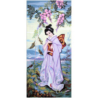"Grafitec серия 8.000 Канва/ткань с рисунком ""Grafitec"" серия 8.000 60 см х 30 см 8.051 Японка"