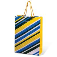 GRANDGIFT  Пакет подарочный ламинированный, 22х31х9 см, геометрия, ассорти