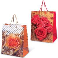 """GRANDGIFT  Пакет подарочный ламинированный, 26х32х15 см, """"Цветы"""""""