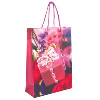 GRANDGIFT  Пакет подарочный ламинированный, 22х31х9 см, женский, ассорти