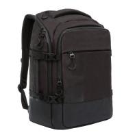 GRIZZLY RQ-019-2/1 Рюкзак GRIZZLY деловой, 2 отделения, карман для ноутбука, черный, 45x32x21 см, RQ-019-2/1