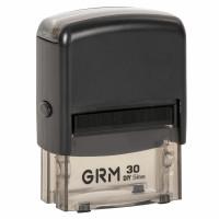 GRM 116000030 Штамп самонаборный 5-строчный, оттиск 47х18 мм синий, без рамки, GRM 30, КАССА В КОМПЛЕКТЕ, 116000030