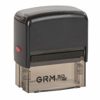 GRM 116000060 Штамп самонаборный 7-строчный, оттиск 69х30 мм синий, без рамки, GRM 50, КАССЫ В КОМПЛЕКТЕ, 116000060