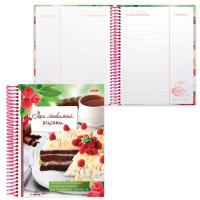 """HATBER 80ККт5Aпс_08760 Книга для кулинарных рецептов, А5, 80 л., HATBER, 7БЦ, спираль, 5 разделителей, """"Сладкие секреты"""", 80ККт5Aпс_08760"""