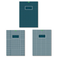 "HATBER 80Т4C3 Тетрадь, А4, 80 л., HATBER ""ECO"", скоба, клетка, обложка картон, ""Classic"" (3 вида), 80Т4C3"