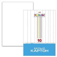 HATBER N049716 Картон белый А4 МЕЛОВАННЫЙ, 10 листов, в папке, HATBER, 205х295 мм, Creative Set, 10Кб4 05806, N049716