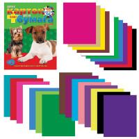 HATBER N133835 Набор цветного картона и бумаги А4 немелованные, 16 + 10 цветов склейка HATBER VK, 195х275 мм, Щенки, 26НКБ4к 05284, N133835