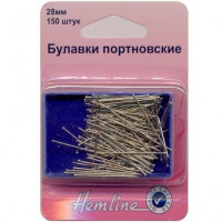"Hemline 00000011284 Булавки портновские ""Hemline"" 670, 28 мм, 150 шт."