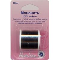 Hemline 00000031584 Мононить, прозрачный темный, 100% нейлон 200 м   .