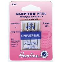 """Hemline 100.60 Иглы """"Hemline"""" 100.60 для бытовых швейных машин N 60"""