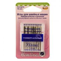 """Hemline 100.993 Иглы """"Hemline"""" 100.993  для бытовых швейных машин универсальные, 60-110, 10шт."""