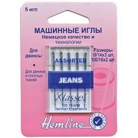 """Hemline 103,99 Иглы """"Hemline"""" 103.99  для бытовых швейных машин 5 штук, джинс"""