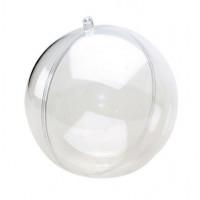 Hemline 11.031.12/GO02 Шар пластиковый разъёмный HEMLINE, d 12 см цв. прозрачный