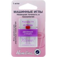 Hemline 112,40 Иглы для бытовых швейных машин двойные стрейч 4.0/75