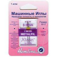 Hemline 119,30 Иглы для бытовых швейных машин двойные для  металлизированной нити 3.0/80